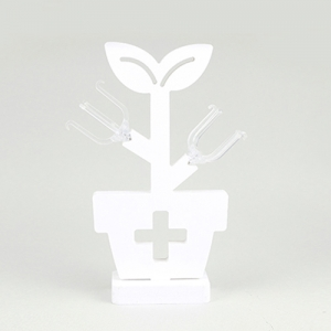 "White Art Deco "" Cross Planter """